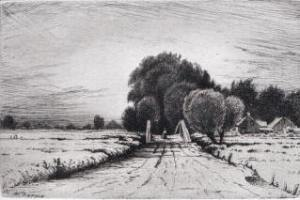 Road and Bridge by Henry Farrer