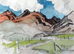 Sketch by Milford Zornes