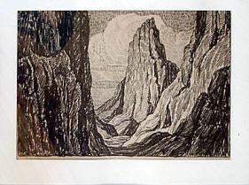 Sentinel Rock by Birger Sandzen