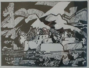 Woodblock by Eric Gibberd