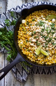 Easy Skillet Mexican Corn on the Cob