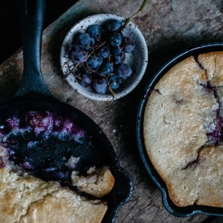 Cast Iron Mini Skillet Cobbler - Concord Grape Cobbler Recipe