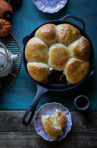 Pumpkin Custard Baked Buns