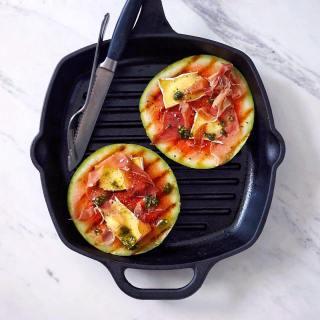 Grilled Mini Watermelon with Prosciutto - Summer Recipe