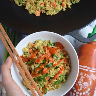 Cast Iron Vegetable Fried Rice by @TheNutritiousPrincess