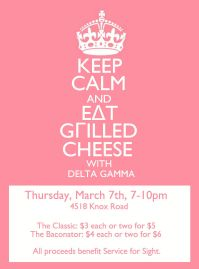 Delta Gamma's grilled cheese sale