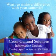 Facebook profile picture for Cross-Cultural Solutions' information session