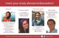Study abroad ambassadors graphic using Adobe InDesign
