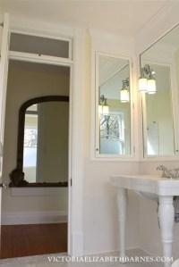 DIY bath remodel = DIY medicine cabinet.