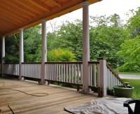 Victorian wrap around porch. Removing a railing ...