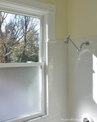 Solution to the large window IN the shower... Simple DIY ...