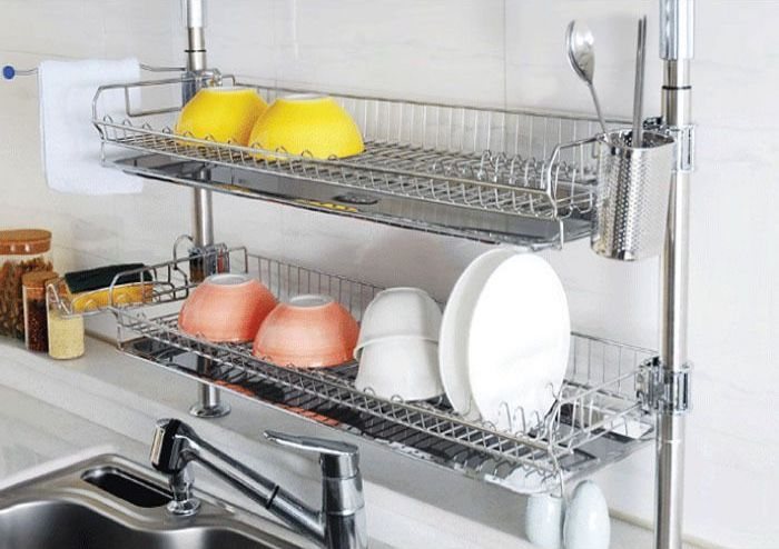 kitchen sink dish drying rack ideas
