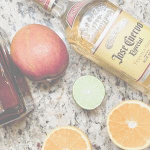 The ingredients for a quick, easy, always tasteful Mango Margarita