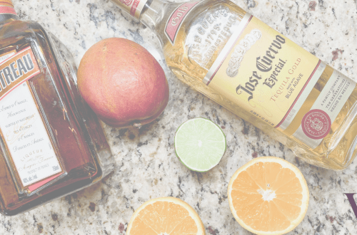 The ingredients for a quick, easy, always tasteful Mango Margarita