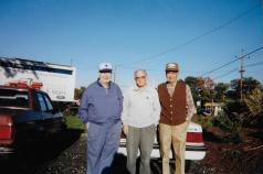 At a car show with brothers Warren and Cal, ca. 2002.