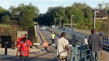 Victoria Falls Border Post which crosses over the Vic Falls Bridge