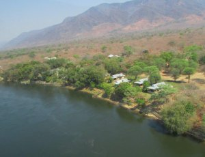 Baines River Camp from the air