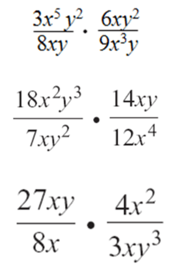 8-4 Simplifying Rational Expressions Maybe multiplying