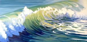 Sunlit Wave 60x30