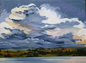 Storm Over Lake Nisconlith 48x36
