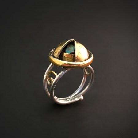 Observatory, Chased Ring with Rotating Dome over Bezel