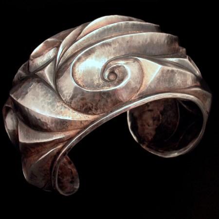 Inspiraled, Eastern repousse cuff bracelet
