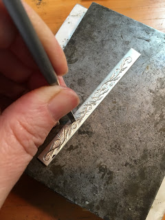 Chasing line work on a ring shank