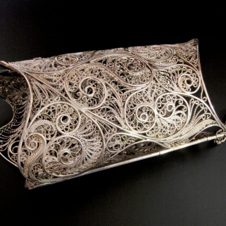 """""""Icy White and Crystalline,"""" Russian filigree gauntlet"""