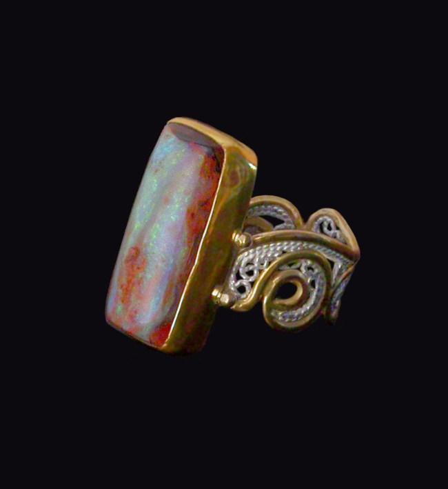 Lumiere, Russian filigree ring