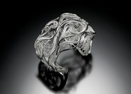 Storms of Juno, Russian filigree cuff bracelet by Victoria Lansford