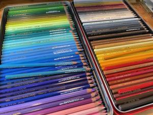 Caran d'Ache watercolor pencils - Victoria Lansford