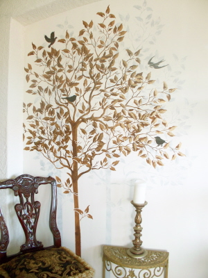 Wall Stencil Large Tree Walls Stencils Plaster Stencils
