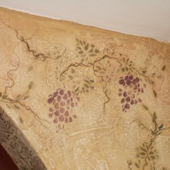 Grape Decor For Kitchen Metal Studs Outdoor Plaster Stenciled Grapes Make A Beautiful – Walls ...