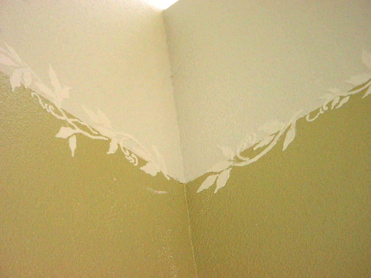 new kitchen decorating ideas professional knives plaster stencil vine – walls stencils, stencils ...