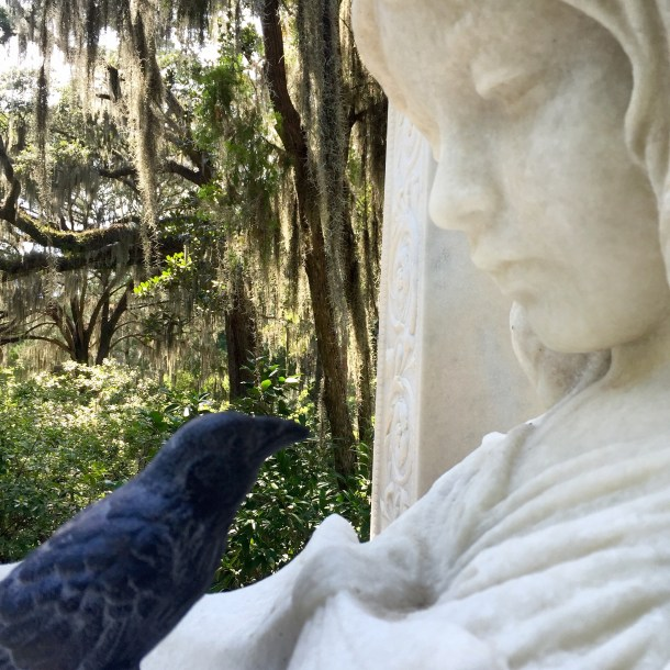 "Nevermore talks with ""Lisa"" at Bonaventure, Savannah"