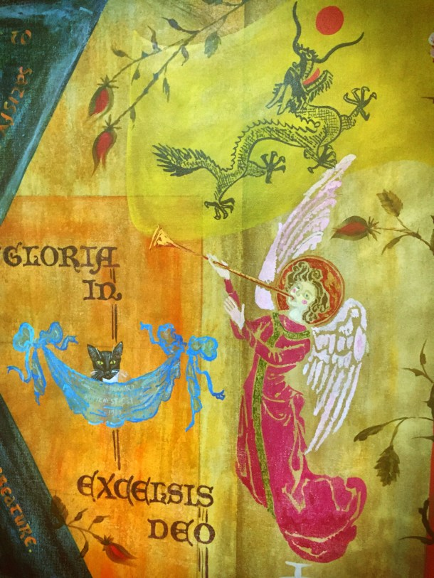 Day 10: Angel on a mural at Christ Church, Cordele, Georgia.