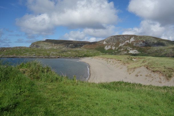 A view of the beach in Glencolmcille, County Donegal.