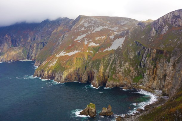 The cliffs at Slieve League, County Donegal. The highest cliffs in Europe.