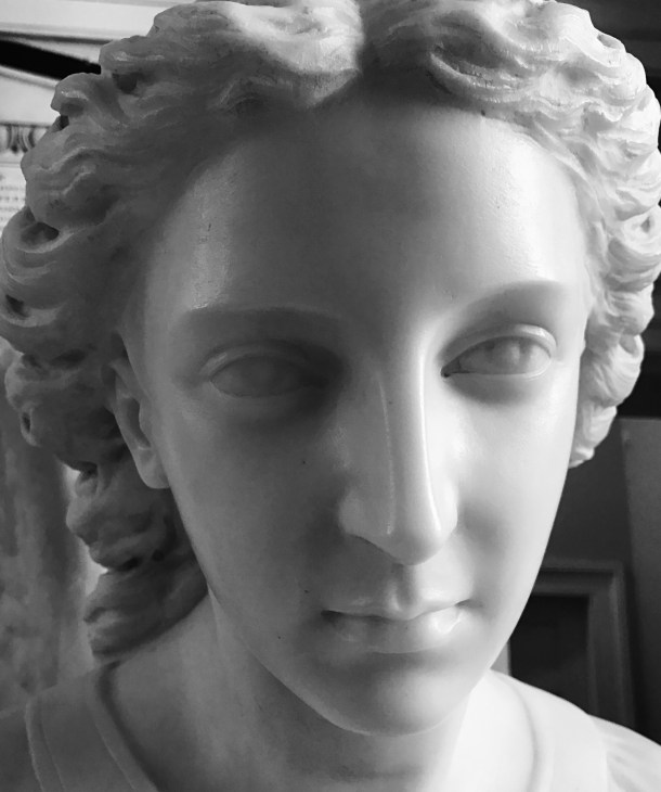 Face of Angel--the Baptismal font at Christ Church Savannah, 1733