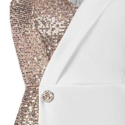 vestido blazer lentejuelas