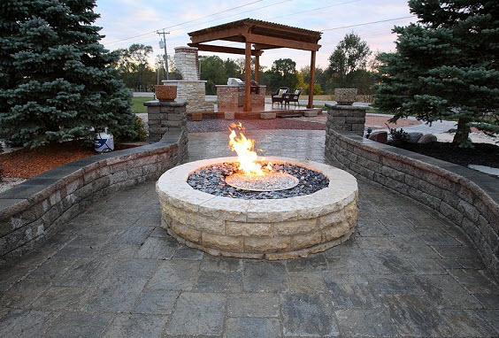 Outdoor Gas Firepits  Custom Firepits St Louis