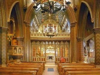 St Giles Church Cheadle by A W N Pugin Interior