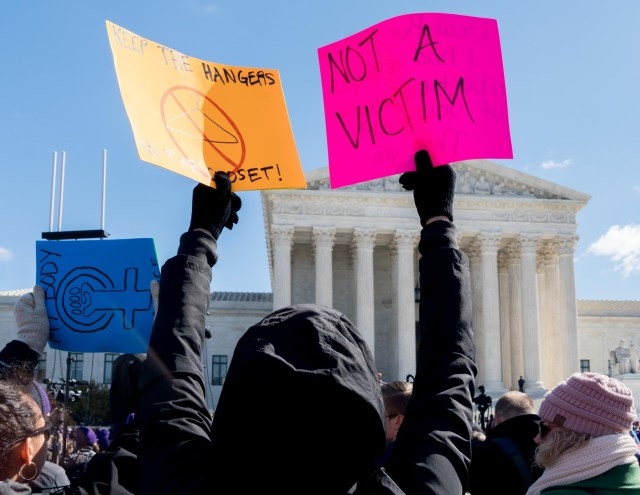 Rally in front of the Supreme Court auring the hearing, March 2, 2016