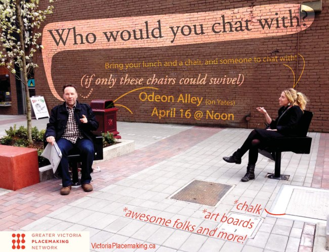 poster (by Andy Guiry) for chair-bombing #2
