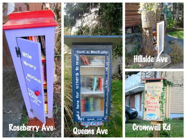 Book boxes you might see in your neighbourhood