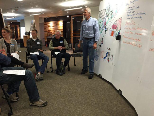 Jim LaMorte leads a conversation on neighbourhood planning.