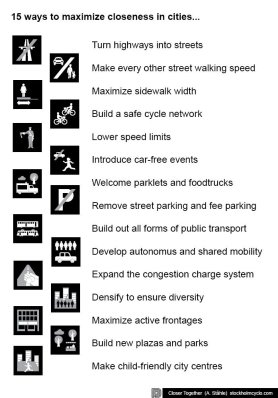 One highlight liked by many at the conference: Stockholm's Alexander Stahle's 15 ways to improve community closeness.