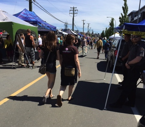 A great example of a Living Street event, Vic West Fest took over Harbour Road in Victoria in 2016.