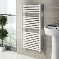 White Heated Towel Rail 1200 x 600 | VictoriaPlum.com