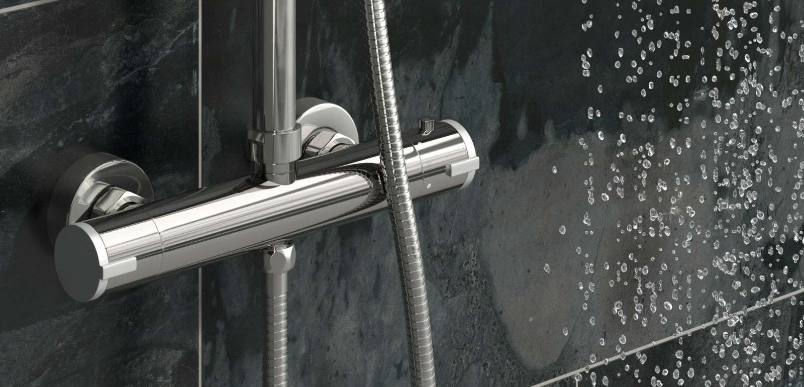 How do thermostatic shower valves work?